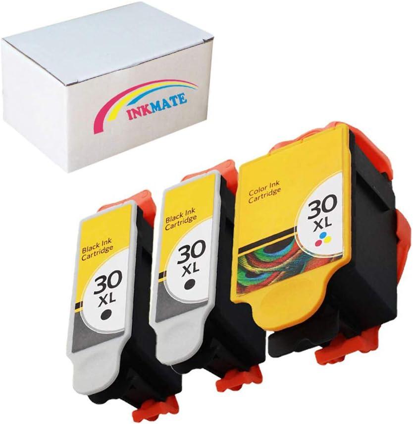 INKMATE Compatible Ink Cartridge Replacement for Kodak 30XL for ESP C110 ESP C310 ESP C315 Office 2150 Office 2170 Hero 3.1 Hero 3.2 Hero 5.1 2Black/1Tri-Color 3Pack