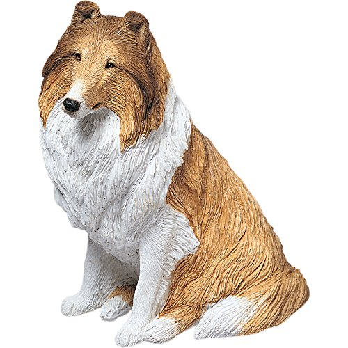 Sandicast Figurine - Sandicast Original Size Sable Collie Sculpture, Sitting