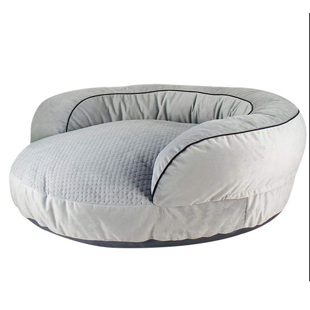 D L.33x20x122cm D L.33x20x122cm Jlxl Four Season Dog Bed, Pp Cotton Dog Mat Sofa Type Pillow Non-slip For Washable Odorless Easy To Clean Warm Kennel (color   D, Size   L.33x20x122cm)