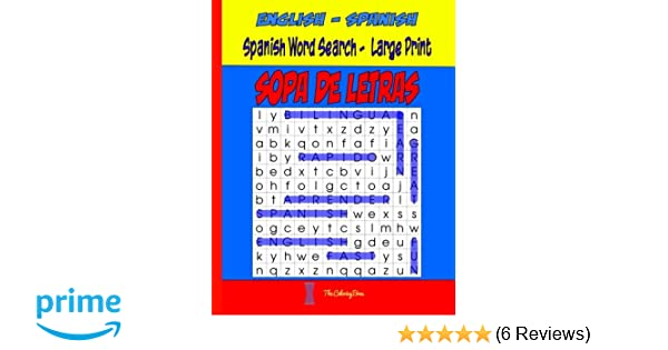 Spanish Word Search Large Print: SOPA de LETRAS (Word Find Puzzles ...
