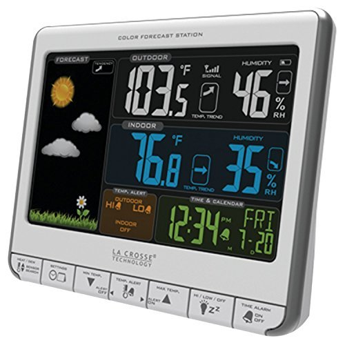 LA CROSSE TECHNOLOGY 308-1412S Color Weather Station by La Crosse Technology