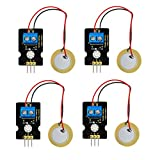 MagiDeal 4 Pieces Analog Piezoelectric Ceramic Vibration Block Sensor For Arduino
