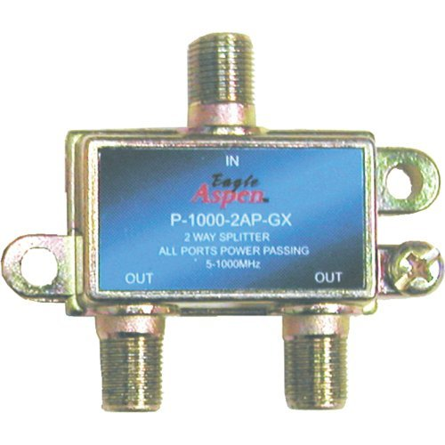 1 - 1,000MHz Splitter (2 Way), 5MHz - 1GHz, All ports power passing, 500302 (Splitter Aspen 1000mhz Eagle)