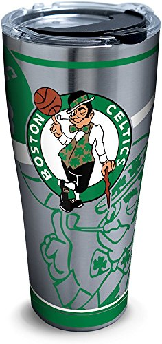 Tervis 1281695 NBA Boston Celtics Paint Stainless Steel Tumbler with Lid, 30 oz, Silver by Tervis