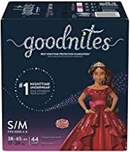 Goodnites Bedwetting Underwear For Girls, S/M (38-65 Kg.), 44 Ct, Giga Pack (Packaging May Vary)