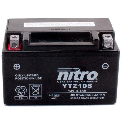 12V//8,6AH f/ür Yamaha YZF600 R6 Baujahr 2008 Ma/ße: 150x87x93 Batterie Nitro YTZ10S GEL