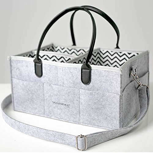 Large Multipurpose Nappy Diaper Bag with Adjustable Shoulder Straps Leather Handles and Fabric Dividers – Perfect for Travel or Everyday Changing Needs