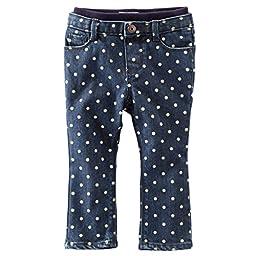 Oshkosh B\'gosh Baby Girls Skinny Fit Jeans-Dark Wash 24 Months