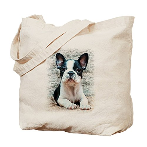 CafePress–Bulldog francese, Borsa di tela naturale, panno borsa per la spesa