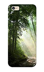 New Style Case Cover XMSQoAH1408qjVlL Sunlit Path In The Woods Compatible With Iphone 6 Plus Protection Case