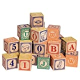 Uncle Goose Swedish Alphabet Wooden Blocks – Made in the USA, Baby & Kids Zone