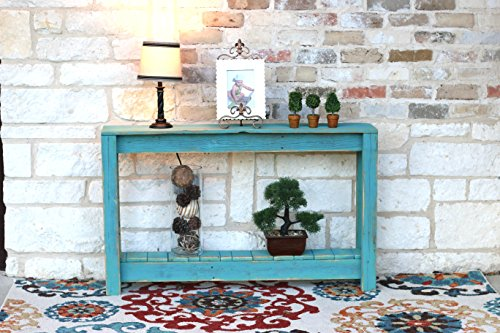 Turquoise 46 Inch Console