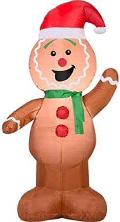 Amazon Com Airblown Inflatable Outdoor Christmas Characters 4 Foot Tall Gingerbread Man By Gemmy Garden Outdoor