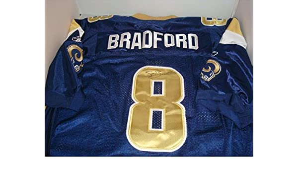 promo code 5c406 43eef Sam Bradford Signed St. Louis Rams Jersey at Amazon's Sports ...
