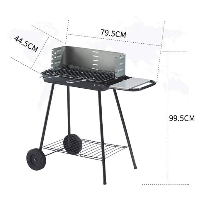Amazon.com: Simple barbacoa con ruedas de carbón vegetal ...