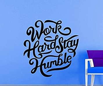 Buy Work Hard Stay Humble Wall Stickers Wallpaper Poster On