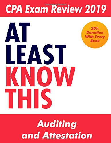 Pdf Test Preparation CPA Exam Review 2019 - At Least Know This - Auditing and Attestation