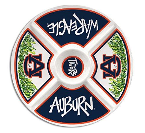 Auburn University Melamine Divided Veggie Platter