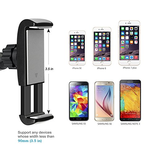 Car Mount, Universal Flexible Arm Windshield Car Phone Holder with Strong Suction Cup for iPhone X SE 7 Plus 6s 6 Plus 6 5s 5 4s 4 Samsung Galaxy S9 Plus S8 Note S7 Edge LG Nexus Sony Nokia and More by BeGear (Image #6)