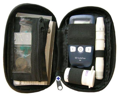 Codefree Kit SD - Medidor de glucosa en sangre, incluye tiras, lancetas y estuche 3