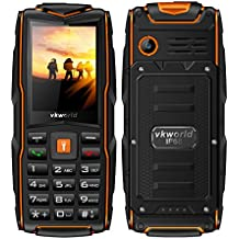 Rugged Tough Unlocked Cell Phone 3000mAh Battery Waterproof Shockproof and Dustproof Phone VKworld New Stone V3(black/orange)