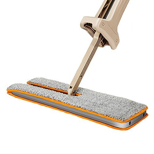 Haerbin Lazy Double Sided Mop Self Wringing Easy And 360 Degree Spin Mop,Automatic Squeeze Wet & Dry Flat Cleaning For Hardwood Floor,Living Room,Bathroom,Kitchen(Included Two Mop (Friction Drag Washer)