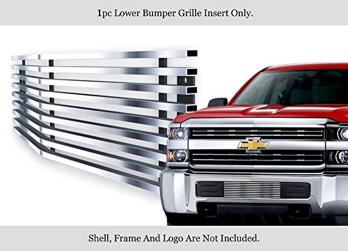 (APS Fits 2015-2019 Chevy Silverado 2500HD/ 3500HD Stainless Bumper Billet Grille #C66319C)