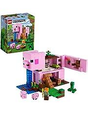 LEGO 21170 Minecraft Het Varkenshuis Bouwset met Alex, Creeper en Bouwbare Varken Poppetjes voor Kinderen van 8 Jaar en Ouder