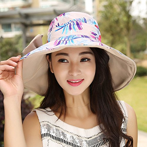 - MS Hats Sun Hat Women's Wide-Bow Bow Design Cotton Sun Compressible Shade Leisure Cap (5 Colors Available) ## (Color : 1)