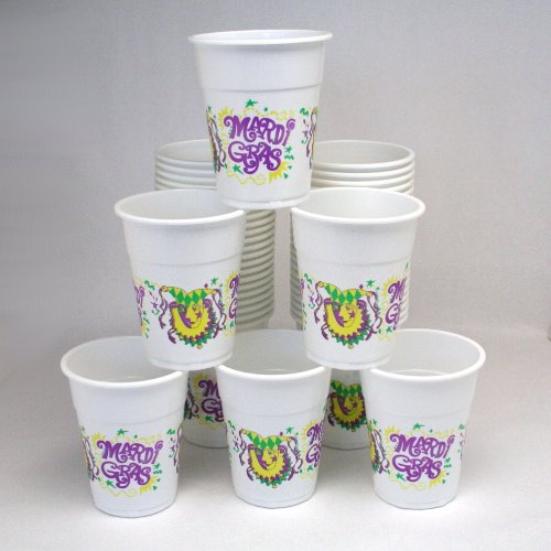 Fun Express Mardi Gras Disposable Cups (50 Piece) ()