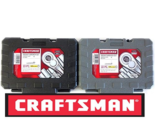 Craftsman 10 Piece Standard & 10 Piece Metric 3/8 Inch Drive Ratchet Socket Set Empty Cases