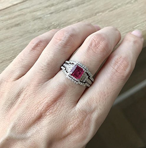 vintage ruby engagement rings - 2