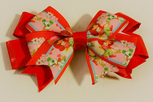 Strawberry Shortcake Duct Tape and Ribbon Hair Bow