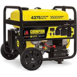 Champion Power Equipment 100554 RV Ready Portable Generator with Wireless Remote Start, Black and Yellow