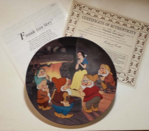 "Disney Collector Plate Knowles Snow White ""Fireside Love Story"""