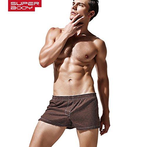 XX&GXM Gift Men's boxer briefs knickers cotton body belly,L,Blue Plaid D2X Underwear