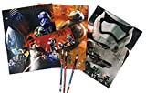 Star Wars 7 Portfolio The Force Awakens - Set of 3 Portfolio 2 Pocket School Folders, Metal Tin Pencil Box with Pencils (Storm Tr)