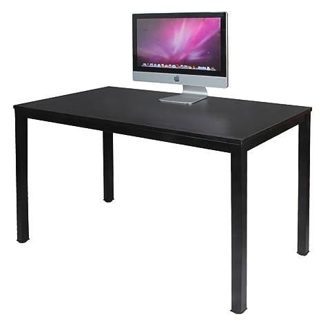 DlandHome Escritorios Mesa de Ordenador 120x60cm Escritorio de Oficina Mesa de Estudio Puesto de Trabajo Mesa de Despacho,Negro