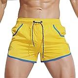 Lorata Traje de Baño Hombre Bañador Shorts Playa Hombre Pantalones Corto Tajes de Baño Bóxers Shorts con Cordón de Deporte Aj