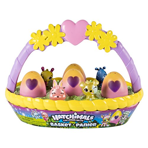 Happy Easter Gift - Hatchimals CollEGGtibles Easter Basket with 6 Hatchimals CollEGGtibles