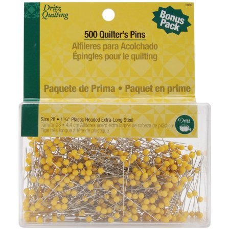 Dritz Quilting Quilter's Pins Econo Pack 1 3/4'' 500/Pkg 3009 (1-Pack) by Dritz