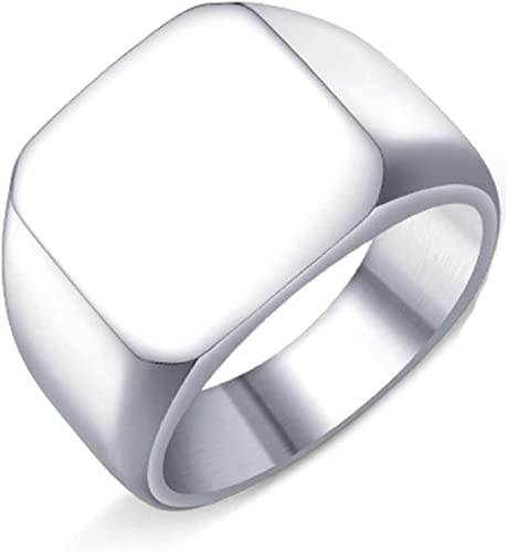 Stainless Steel Fashion Ring Polished CZ Square Ring