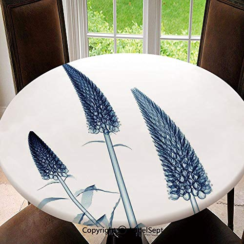 Elastic Edged Round Tablecloth Gooseneck Loosestrife Flower X Rays Image Exotic Plants Blooms Artful Home for Thanksgiving, Catering Events, Dinner Parties, Special Occasions or Everyday Use, 55