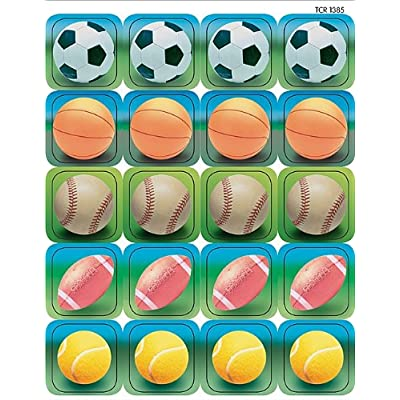 Teacher Created Resources Sports 2 Stickers, Multi Color (1385): Office Products