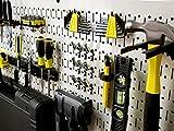 Wall Control Modular Pegboard Tool Organizer System - Wall-Mounted Metal Peg Board Tool Storage Units