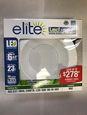 Elite led retrofit kit 56 3000k amazon recessed lighting mozeypictures Choice Image