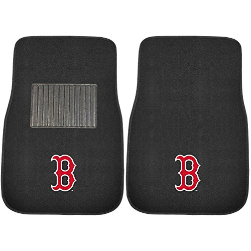 (Sports Licensing Solutions LLC MLB 2-Piece Embroidered Car Mat Set, Boston Red Sox #48173807)