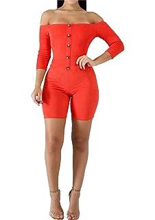 8bf3b02a875 Women s Sexy V Neck Long Sleeve Bodycon Jumpsuit Snake Skin Bodysuit Shorts  Romper Party Clubwear Plus