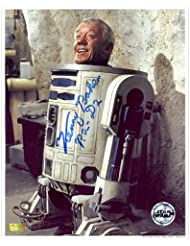 Kenny Baker Autographed 8x10 Inside R2-D2 Photo