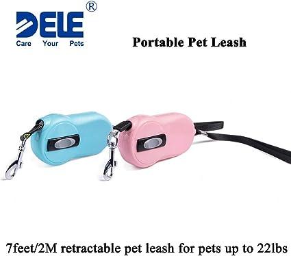 Blue Small Pet Dog Cat Retractable Automatic Leash Walking Running Slide-N-Lock
